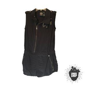Harley Davidson Black Short Romper